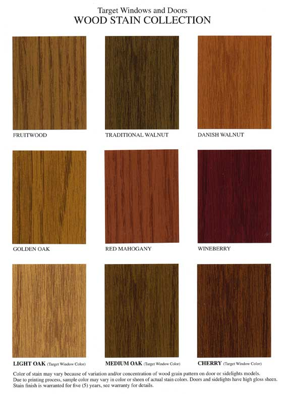Standard Stain Finishes Entry Doors Target Windows And
